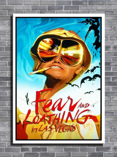1990's Movie - FEAR & LOATHING Red logo - canvas print - self adhesive poster - photo print
